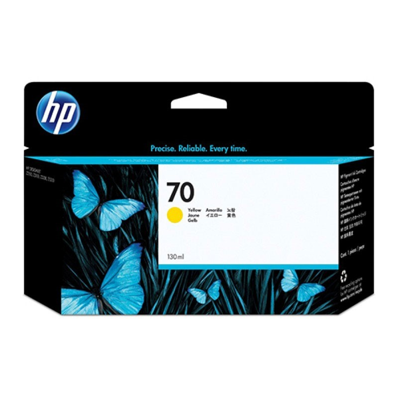 HP - 70 Yellow 130 ml Ink Cartridge [C9454A]