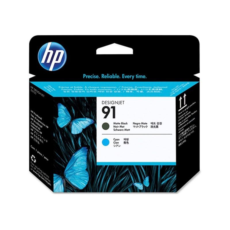 HP - 91 Matte Black and Cyan Printhead [C9460A]