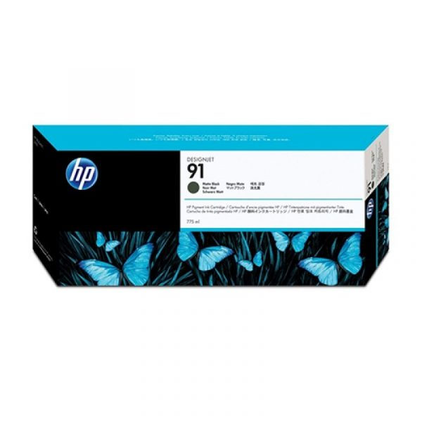 HP - 91 Matte Black 775 ml Ink Cartridge [C9464A]