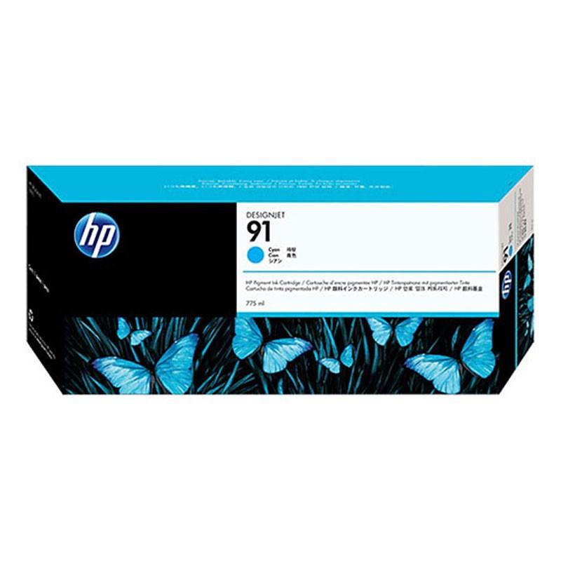 HP - 91 Cyan 775 ml Ink Cartridge [C9467A]