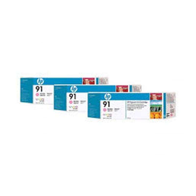 HP - 91 Light Magenta 3 Ink Multi packs cartridges [C9487A]