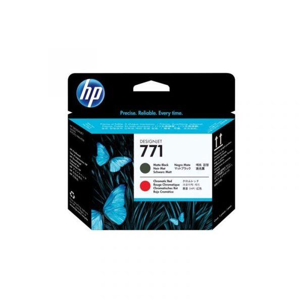 HP - 771 Matte Black and Chromatic Red Designjet Printhead [CE017A]