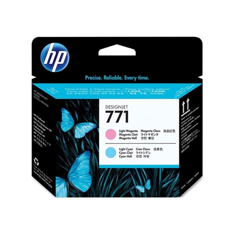HP - 771 Light Magenta and Light Cyan Designjet Printhead [CE019A]