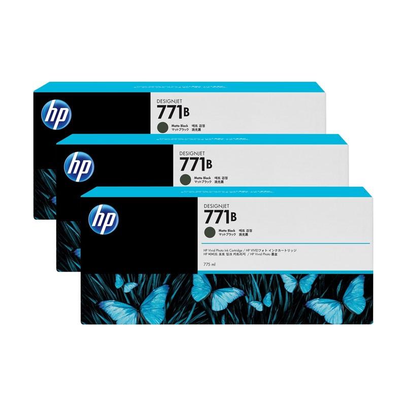 HP - 771B Matte Black Ink Cartridge 3-Pack [B6Y23A]