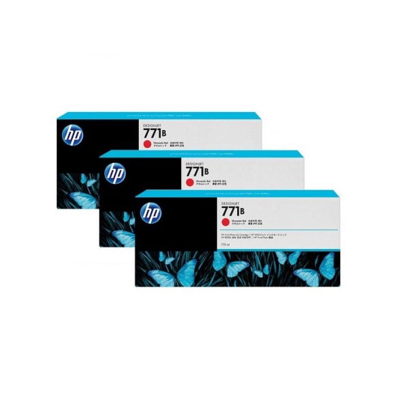 HP - 771B Chrmtc Red Ink Cartridge 3-Pack [B6Y24A]