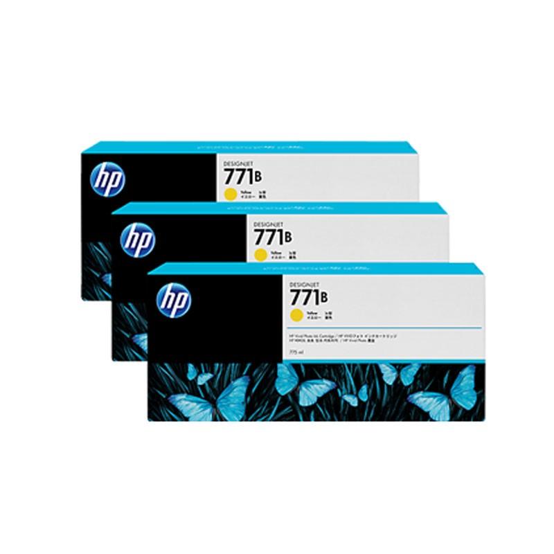 HP - 771B Yellow Ink Cartridge 3-Pack [B6Y26A]
