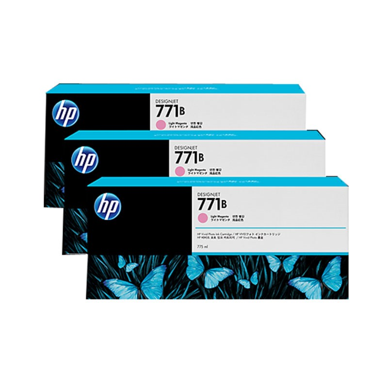 HP - 771B Lt Magenta Ink Cartridge 3-Pack [B6Y27A]