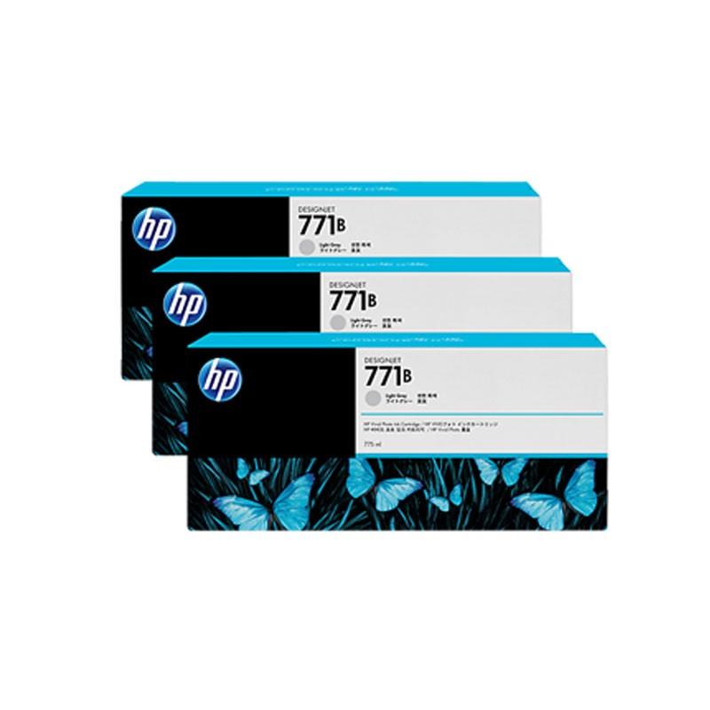 HP - 771B Light Gray Ink Cartridge 3-Pack [B6Y30A]