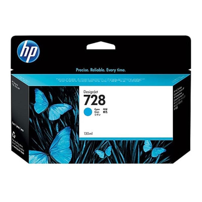 HP - 728 130-ml Cyan Ink Crtg [F9J67A]