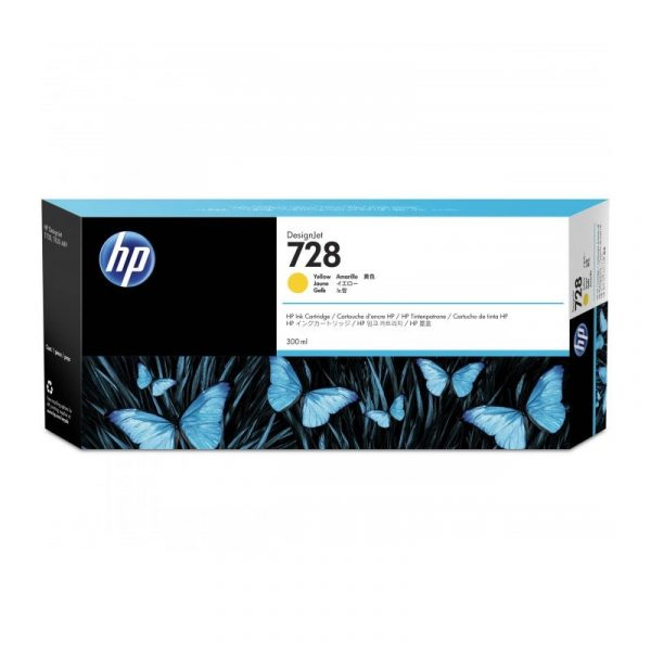 HP - 728 300-ml Yellow Ink Crtg [F9K15A]