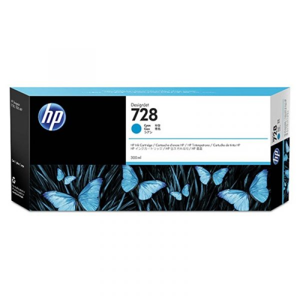 HP - 728 300-ml Cyan Ink Crtg [F9K17A]