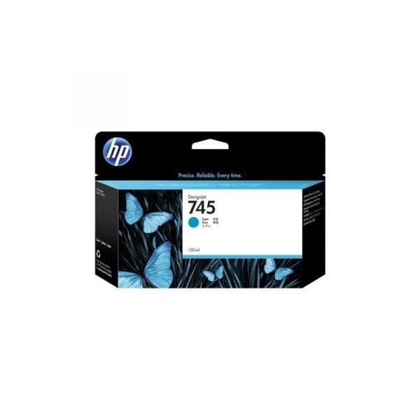 HP - 745 130-ml Cyan Ink Cartridge [F9J97A]