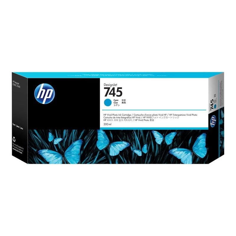 HP - 745 300-ml Cyan Ink Cartridge [F9K03A]