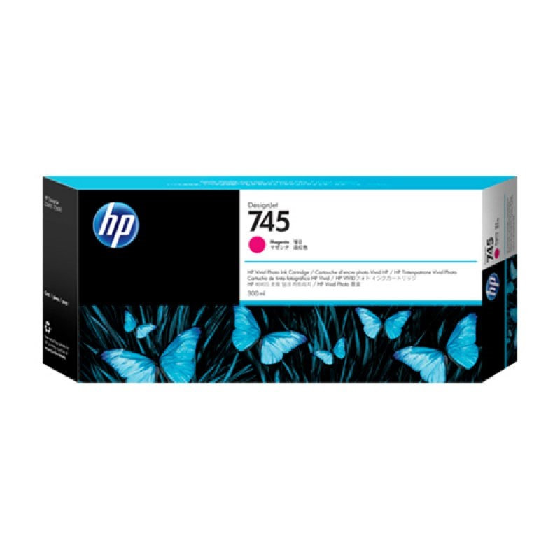 HP - 745 300-ml Magenta Ink Cartridge [F9K01A]