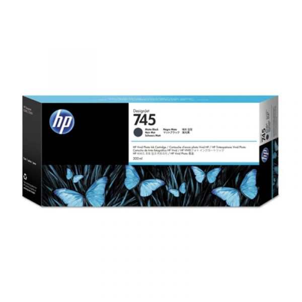 HP - 745 300-ml Matte Black Ink Cartridge [F9K05A]