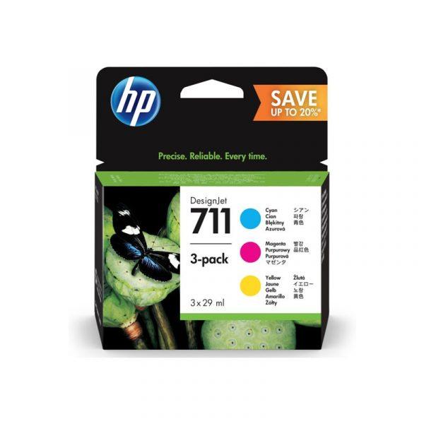 HP - 711 29ml CMY Ink Crtg 3-Pack [P2V32A]
