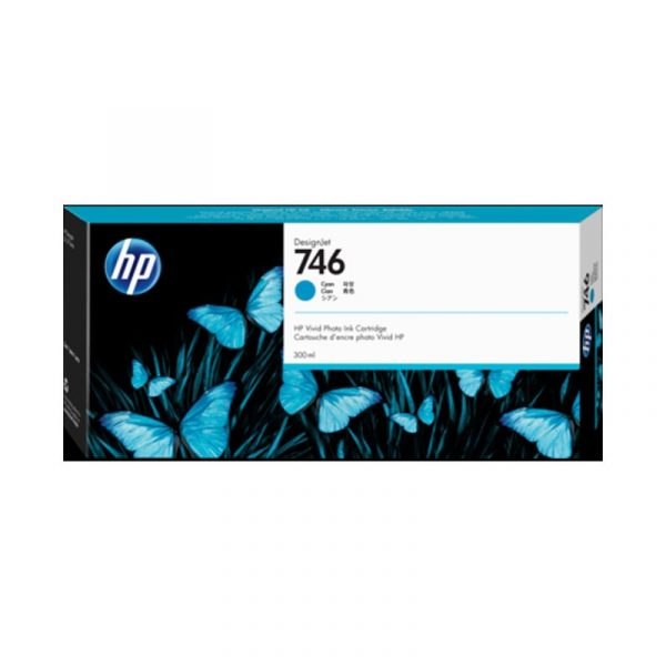 HP - 746 300-ml Cyan Ink Crtg [P2V80A]
