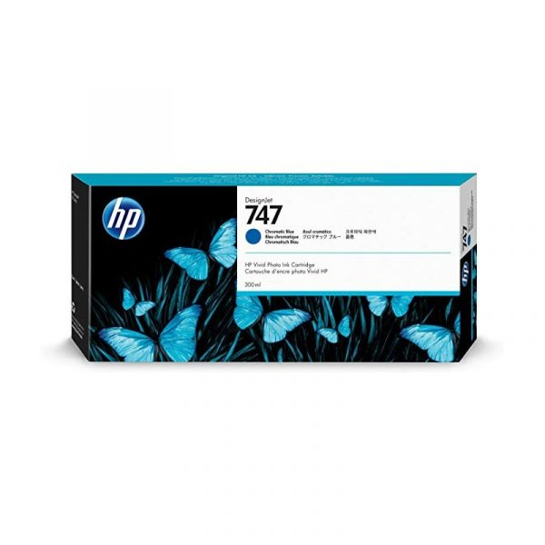 HP - 747 300-ml Chrmtc Blue Ink Crtrg [P2V85A]