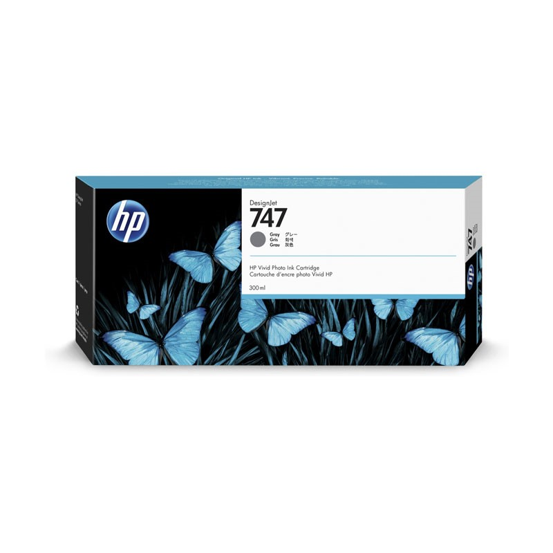 HP - 747 300-ml Gray Ink Crtg [P2V86A]