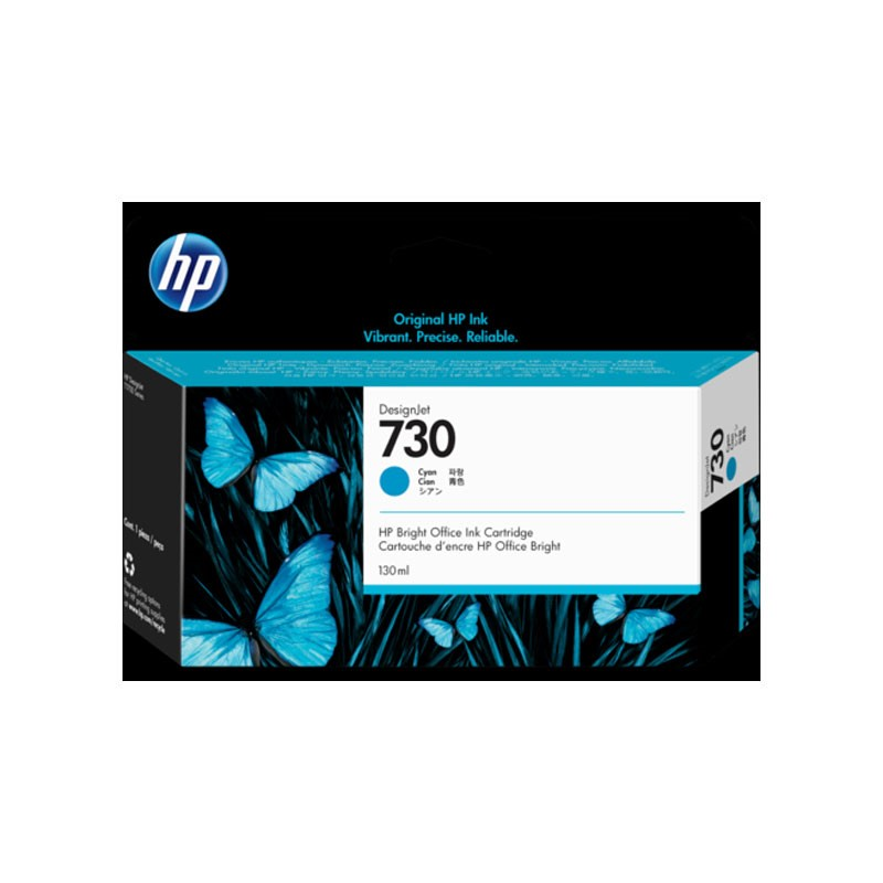 HP - 730 130-ml Cyan Ink Cartridge [P2V62A]