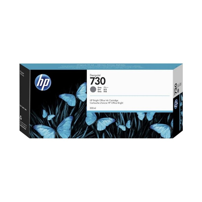 HP - 730 300-ml Gray Ink Cartridge [P2V72A]