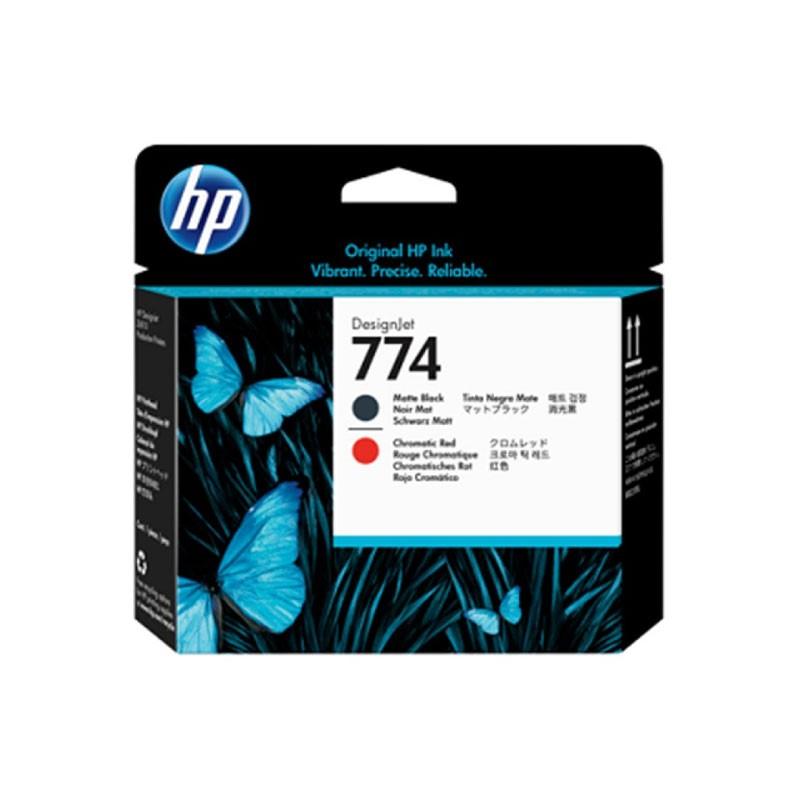 HP - 774 Mte Bk/Chrmtc Red Printhead [P2V97A]
