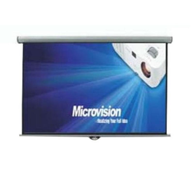 MICROVISION - Manual Wall Screen 300x300 cm / 120inchx120inch [MWSMV3030L]