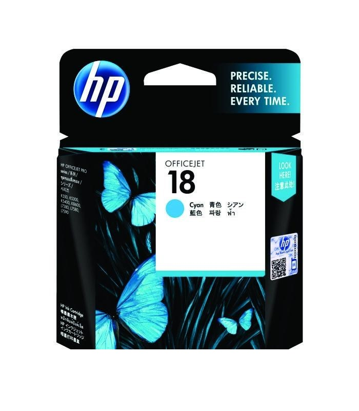 HP - 18 Cyan Ink Cartridge [C4937A]
