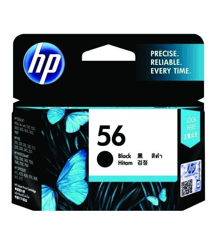 HP - 56 Black Ink Cartridge [C6656AA]