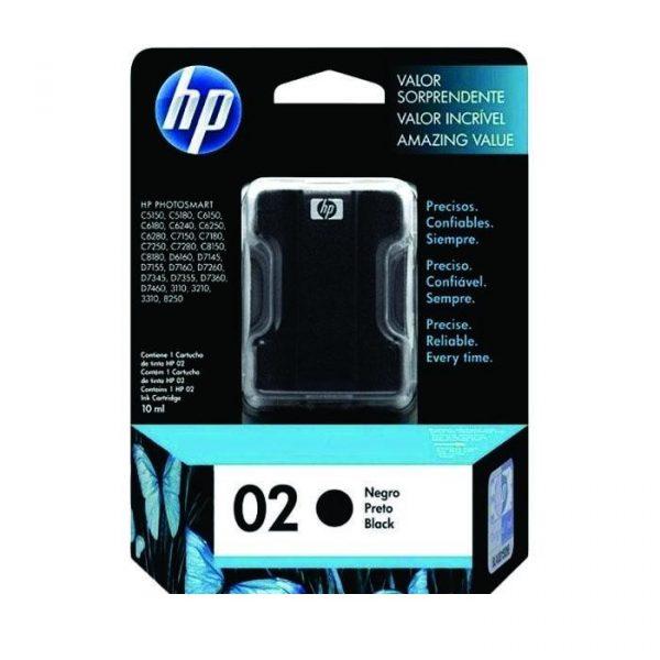 HP - 02 AP Black Ink Cartridge [C8721WA]