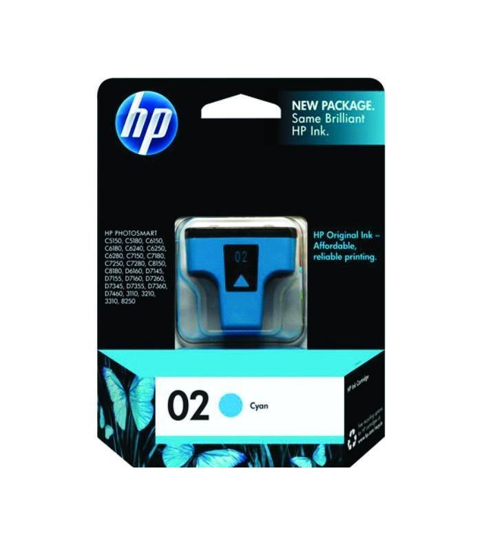 HP - 02 AP Cyan Ink Cartridge [C8771WA]
