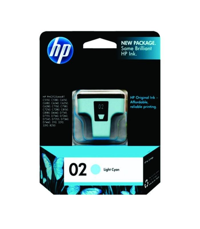 HP - 02 AP Light Cyan Ink Cartridge [C8774WA]