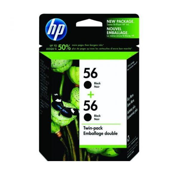 HP - 56 Black Twin Pack Ink Cartridge [CC620AA]