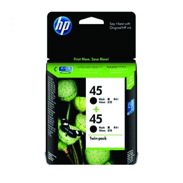 HP - 45 Black Inkjet Cartridge Twin Pack [CC625AA]
