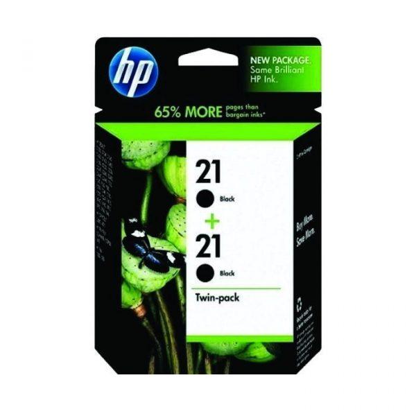 HP - 21 Black Twin Pack Ink Cartridge [CC627AA]