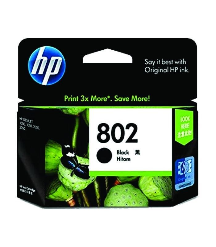HP - 802 Black Ink Cartridge [CH563ZZ]