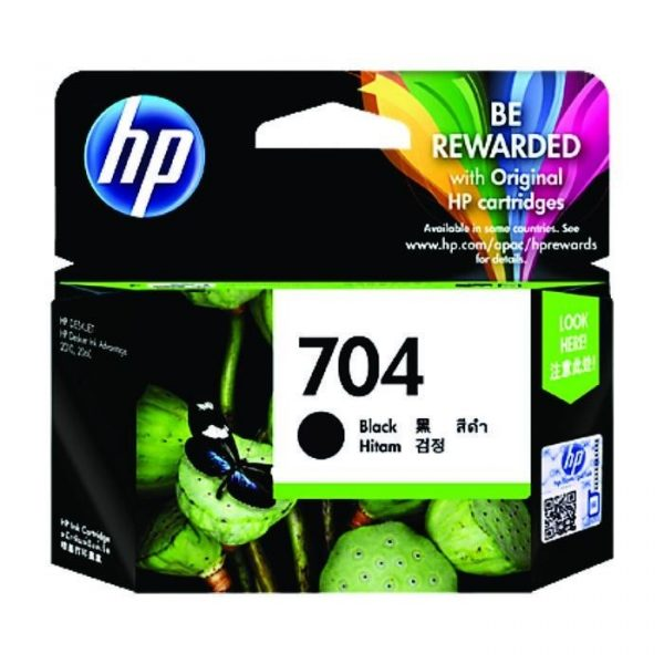 HP - 704 Black Ink Cartridge [CN692AA]